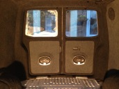 VW T5 barn door speaker pods